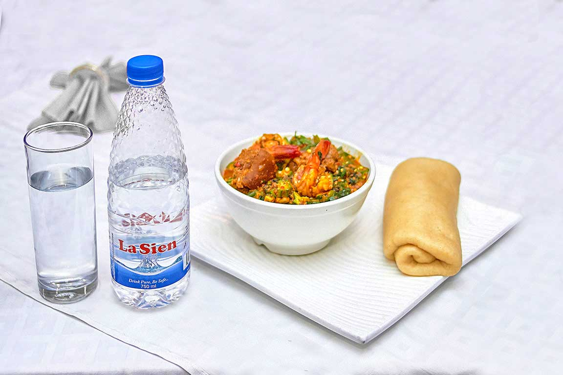 La Sien Premuim Bottled Water Served with your favourite meal